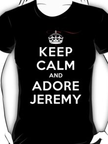 Keep Calm and Adore Jeremy From Vampire Diaries DS T-Shirt