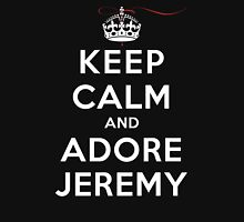 Keep Calm and Adore Jeremy From Vampire Diaries DS Womens Fitted T-Shirt
