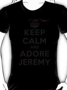 Keep Calm and Adore Jeremy From Vampire Diaries LS T-Shirt