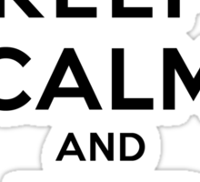 Keep Calm and Adore Jeremy From Vampire Diaries LS Sticker