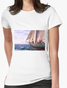 Aboard The Adventurer Womens Fitted T-Shirt