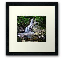 Hiji Falls Waterfall Framed Print