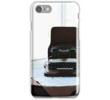 Silhouettes of an office iPhone Case/Skin