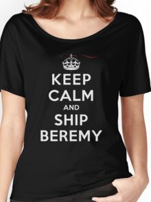 Keep Calm and SHIP Beremy (Vampire Diaries) DS Women's Relaxed Fit T-Shirt