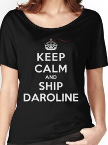 Keep Calm and SHIP Daroline (Vampire Diaries) DS Women's Relaxed Fit T-Shirt