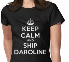 Keep Calm and SHIP Daroline (Vampire Diaries) DS Womens Fitted T-Shirt