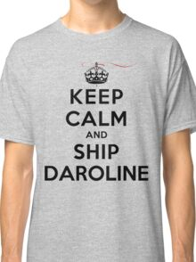 Keep Calm and SHIP Daroline (Vampire Diaries) LS Classic T-Shirt