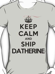 Keep Calm and SHIP Datherine (Vampire Diaries) LS T-Shirt