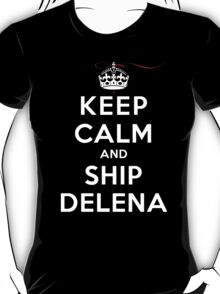Keep Calm and SHIP Delena (Vampire Diaries) DS T-Shirt