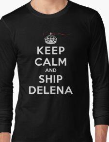 Keep Calm and SHIP Delena (Vampire Diaries) DS Long Sleeve T-Shirt
