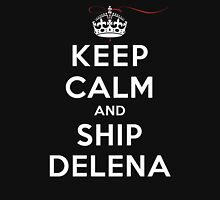 Keep Calm and SHIP Delena (Vampire Diaries) DS Womens Fitted T-Shirt