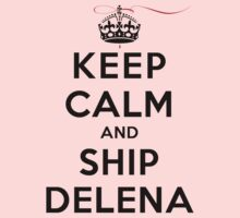 Keep Calm and SHIP Delena (Vampire Diaries) LS by rachaelroyalty