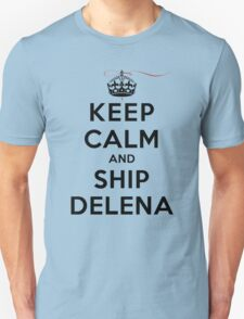 Keep Calm and SHIP Delena (Vampire Diaries) LS Unisex T-Shirt