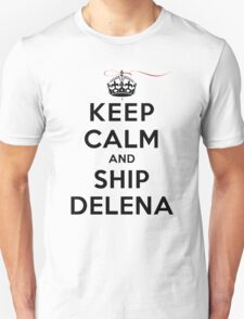 Keep Calm and SHIP Delena (Vampire Diaries) LS T-Shirt