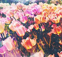 Abstract Watercolor Flowers by CharlesPerrault