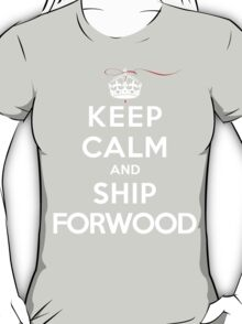 Keep Calm and SHIP Forwood (Vampire Diaries) DS T-Shirt
