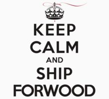 Keep Calm and SHIP Forwood (Vampire Diaries) LS T-Shirt