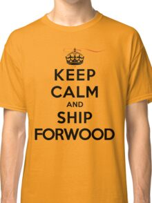 Keep Calm and SHIP Forwood (Vampire Diaries) LS Classic T-Shirt