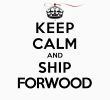 Keep Calm and SHIP Forwood (Vampire Diaries) LS Womens Fitted T-Shirt