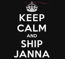Keep Calm and SHIP Janna (Vampire Diaries) DS T-Shirt
