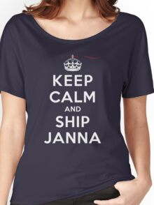 Keep Calm and SHIP Janna (Vampire Diaries) DS Women's Relaxed Fit T-Shirt