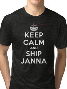 Keep Calm and SHIP Janna (Vampire Diaries) DS Tri-blend T-Shirt