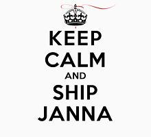 Keep Calm and SHIP Janna (Vampire Diaries) LS Womens Fitted T-Shirt