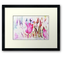 Abstract Watercolor Flower Framed Print