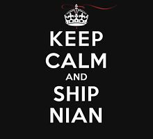 Keep Calm and SHIP Nian (Vampire Diaries) DS Womens Fitted T-Shirt
