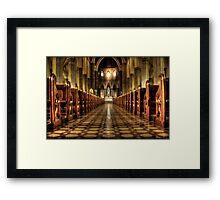 aisle of redemption  Framed Print