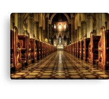 aisle of redemption  Canvas Print