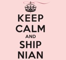 Keep Calm and SHIP Nian (Vampire Diaries) LS T-Shirt