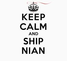 Keep Calm and SHIP Nian (Vampire Diaries) LS Womens Fitted T-Shirt