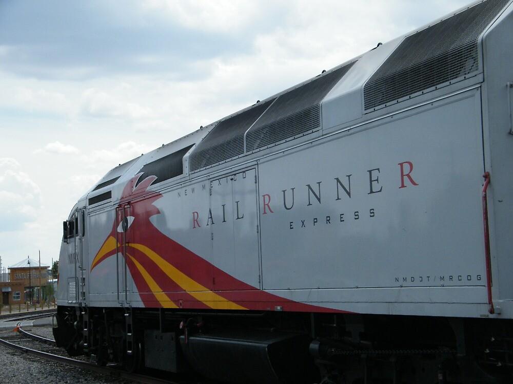 New Mexico Railrunner Locomotive, Santa Fe to Albuquerque Commuter Train, Santa Fe, New Mexico by lenspiro