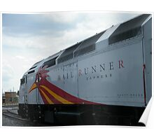 New Mexico Railrunner Locomotive, Santa Fe to Albuquerque Commuter Train, Santa Fe, New Mexico Poster