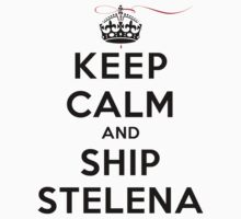 Keep Calm and SHIP Stelena (Vampire Diaries) LS by rachaelroyalty