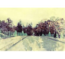 Abstract Autumn Watercolor Photographic Print