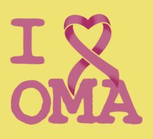 I Heart OMA - Breast Cancer Awareness Kids Clothes