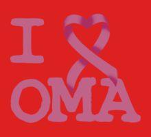 I Heart OMA - Breast Cancer Awareness Kids Tee