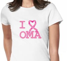 I Heart OMA - Breast Cancer Awareness Womens Fitted T-Shirt