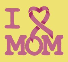 I Heart MOM - Breast Cancer Awareness Kids Clothes