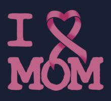 I Heart MOM - Breast Cancer Awareness Kids Tee