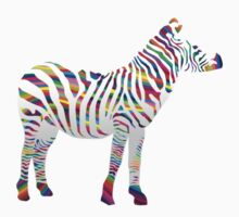 Rainbow zebra One Piece - Long Sleeve