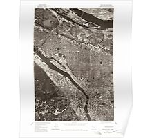 USGS Topo Map Oregon OR Portland 281135 1975 24000 Poster