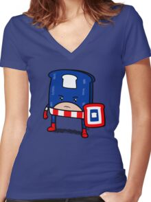 Captain American Bread Women's Fitted V-Neck T-Shirt