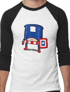 Captain American Bread Men's Baseball ¾ T-Shirt