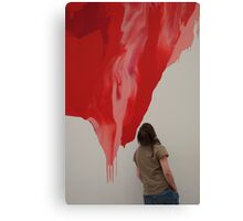 Runny Red Canvas Print