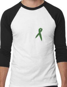 Medical Marijuana Ribbon Men's Baseball ¾ T-Shirt
