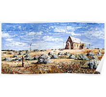 St Carthage: Silverton Outback Australia Poster