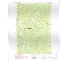 USGS Topo Map Washington State WA Spur Peak 243977 1991 24000 Poster